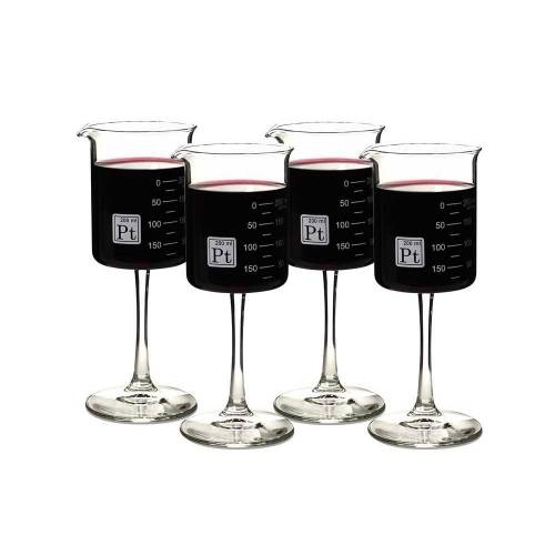 Beaker Wine Glasses, Set of 4