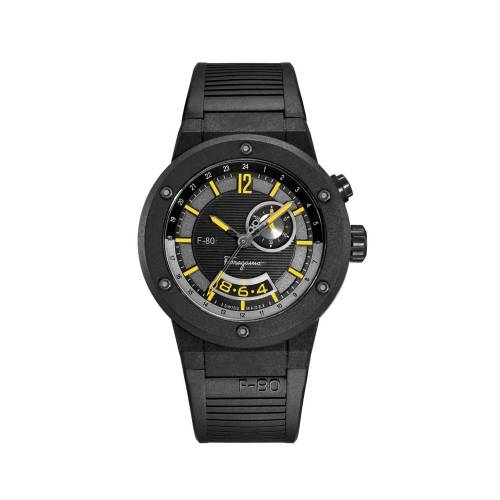 Ferragamo Mens F-80 Black Watch