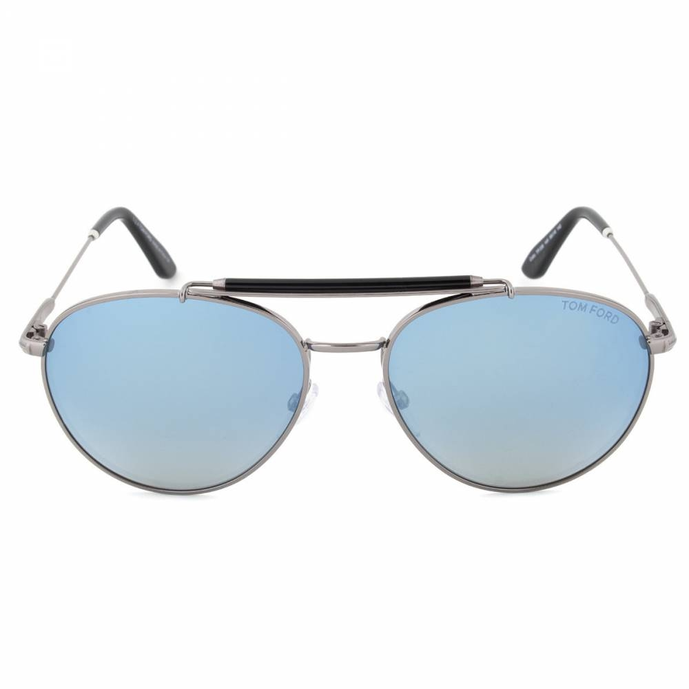 Tom Ford TF338 14X Colin Gunmetal Aviator Sunglasses