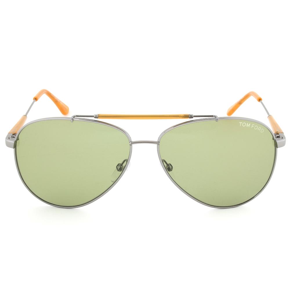 Tom Ford Edward Gunmetal Aviator Sunglasses