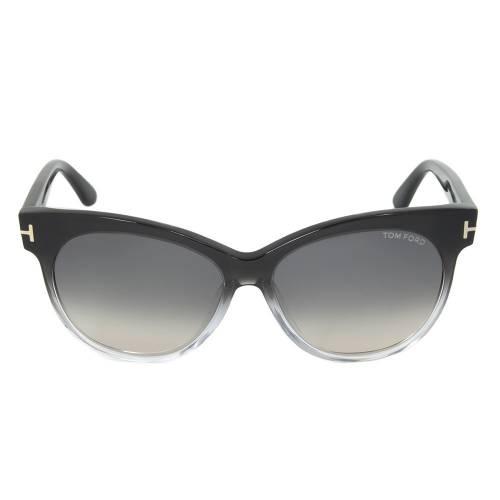 Tom Ford Saskia Sunglasses TF330 05B | Black/Opaque Frame