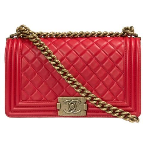 Medium Chanel Boy Quilted Flap Bag