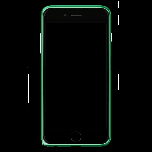Slim Aerospace Aluminum Bumper for iPhone 6s Plus, Green