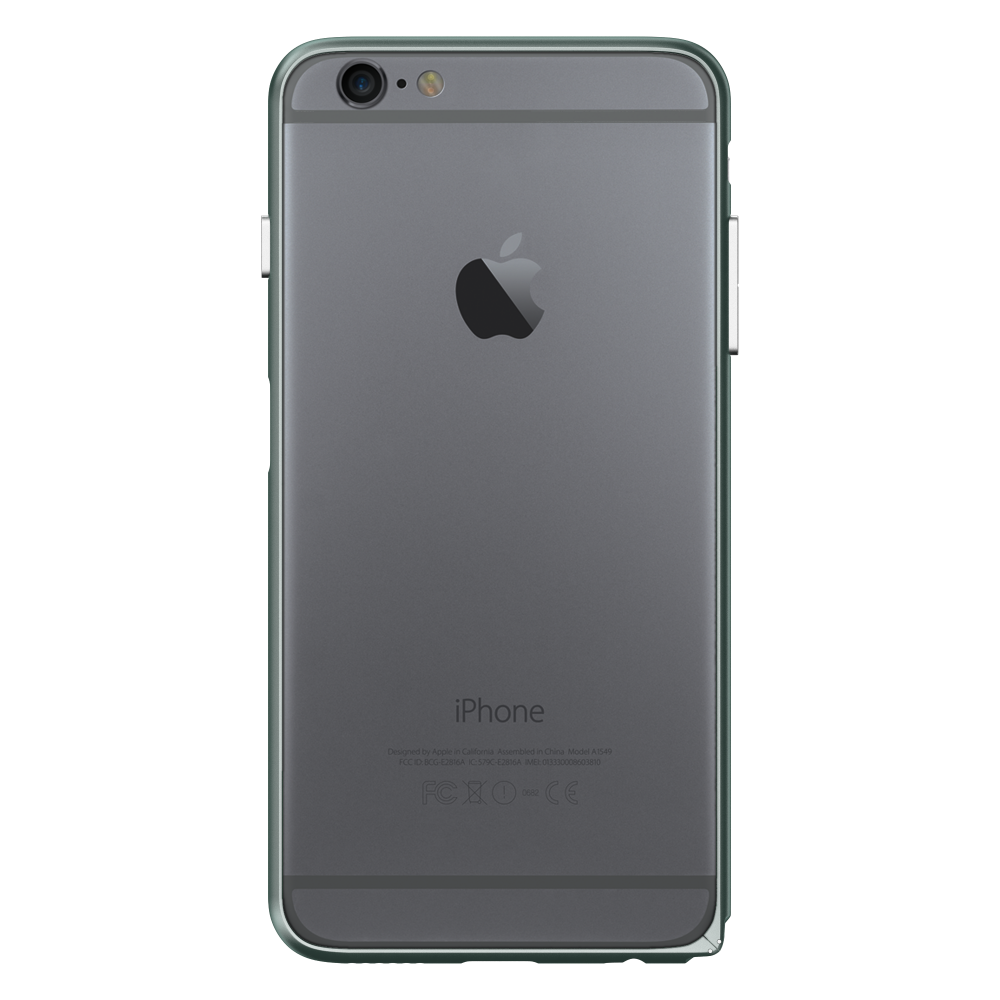 Slim Aerospace Aluminum Bumper for iPhone 6s Plus,Space Gray