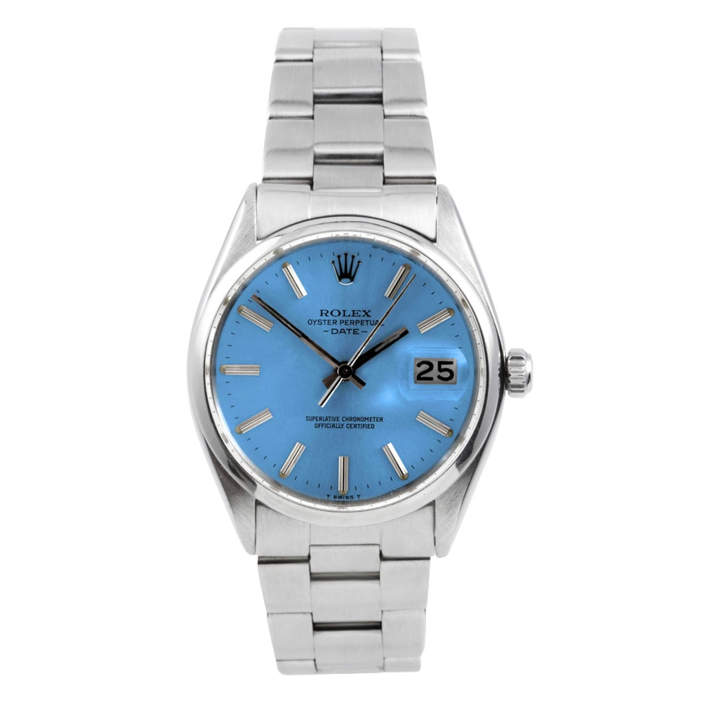 Rolex Stainless Steel Date Watch