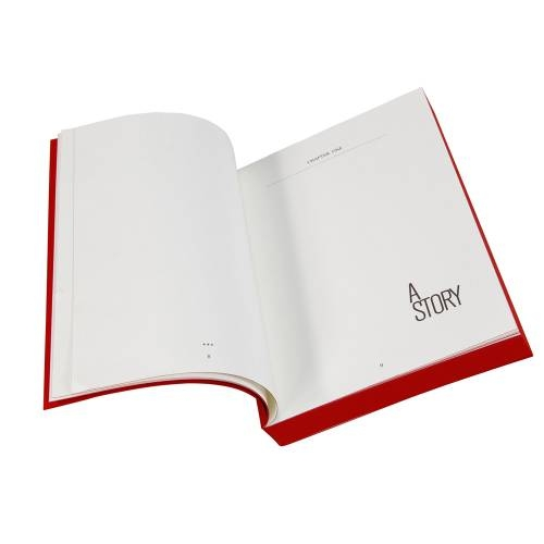 Designer A5 Diary/Journal My Book by Denis Guidone, Red
