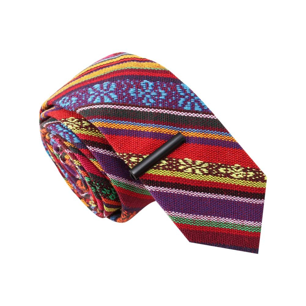 The Jose Ole' Tribal Print Tie with Tie Clip