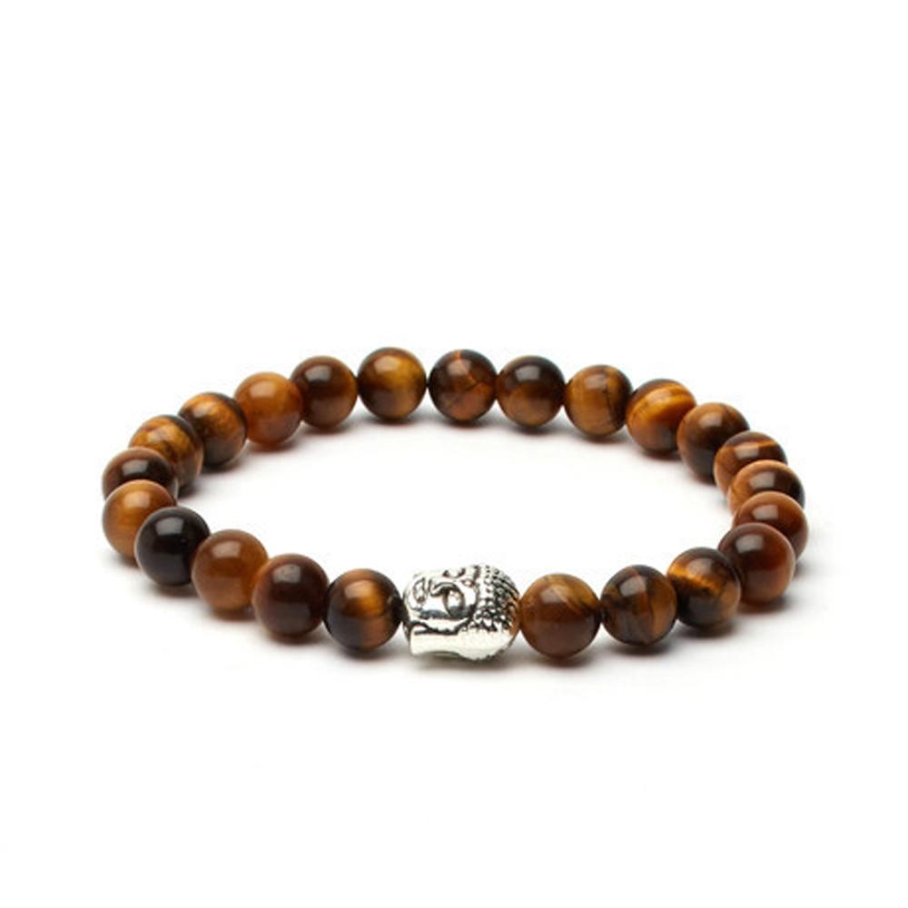 Brown Tiger's Eye Buddha Bracelet - Buttigo