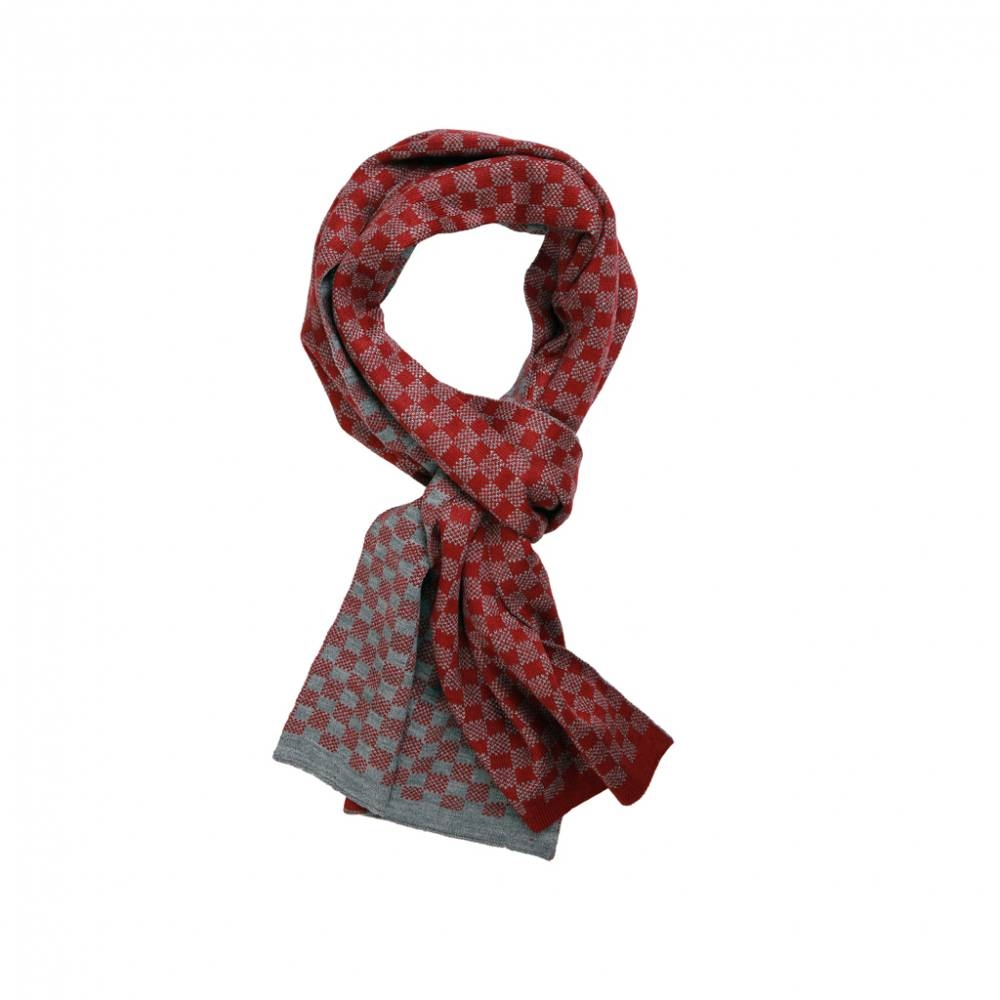 Red & Grey Scarf