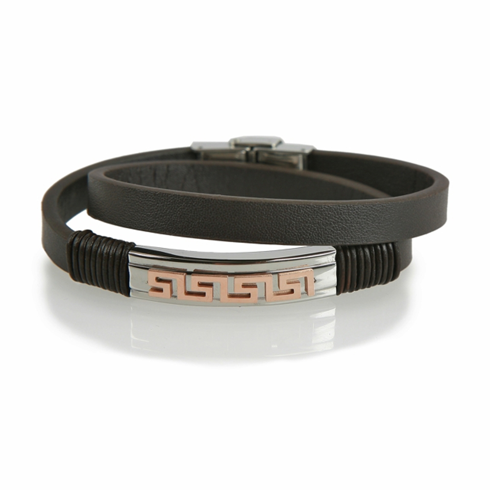 Dark Brown Turgutlu Leather Bracelet - Buttigo