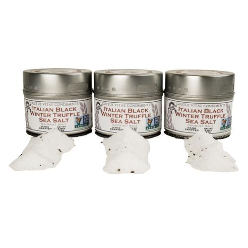 Italian Black Winter Truffle Salt Set | Set of 3