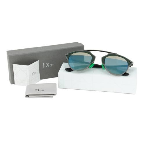 Dior I1A82 Sunglasses   Gunmetal/Green Frame