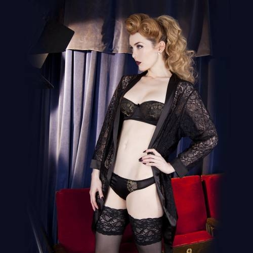 Playful Promises | Scarlett Black Lace Robe