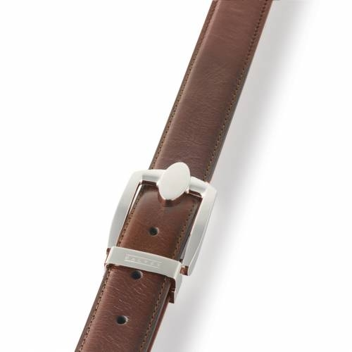 Brown Eclipse Leather Belt | Dalvey
