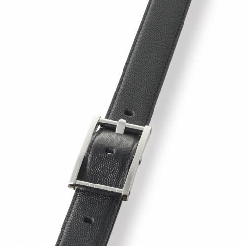 Black Statesman Leather Belt | Dalvey