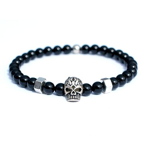 Silver Skull Bracelet | Who's Lookin' Design