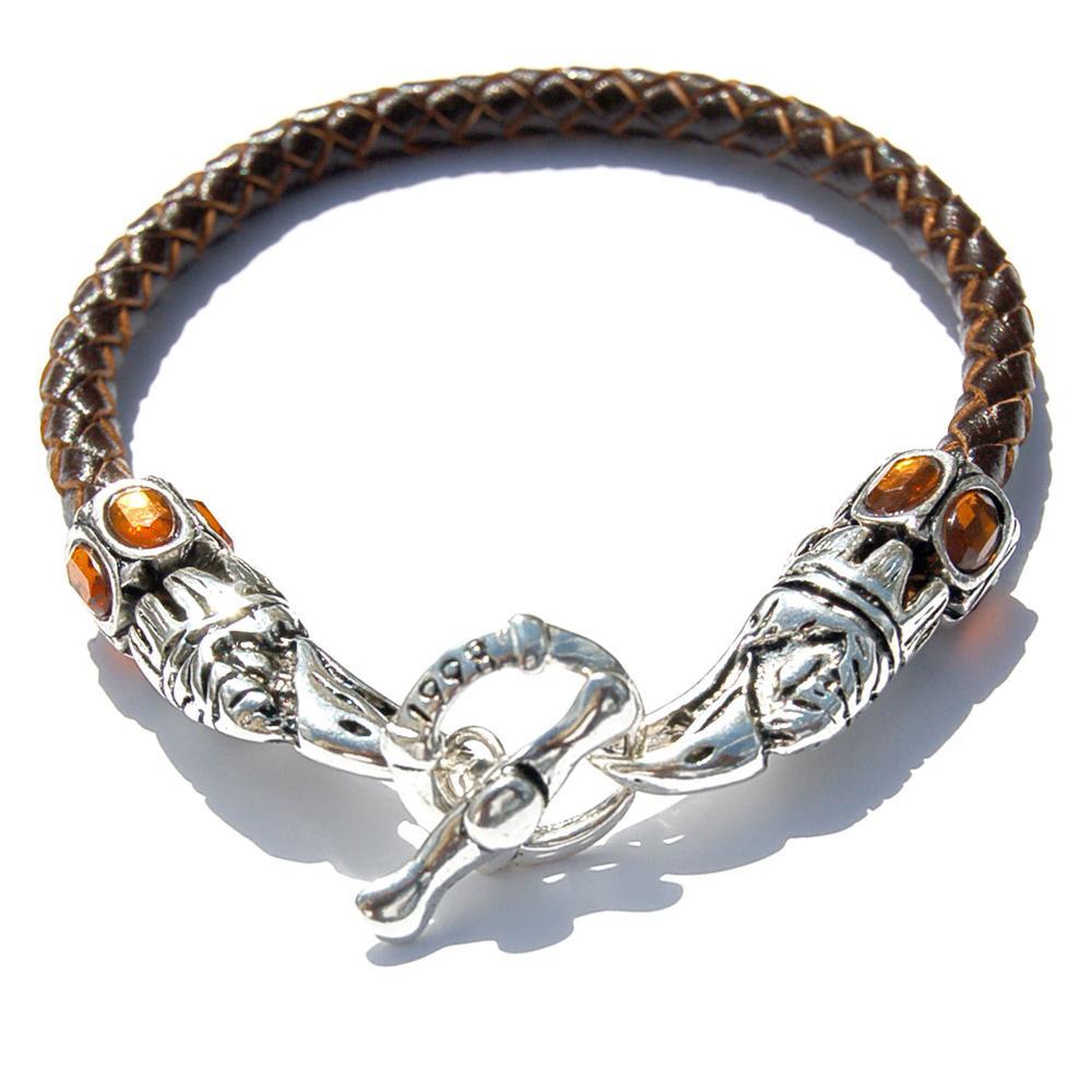 Leather Eagle Beak Clasp Bracelet | Who's Lookin' Design