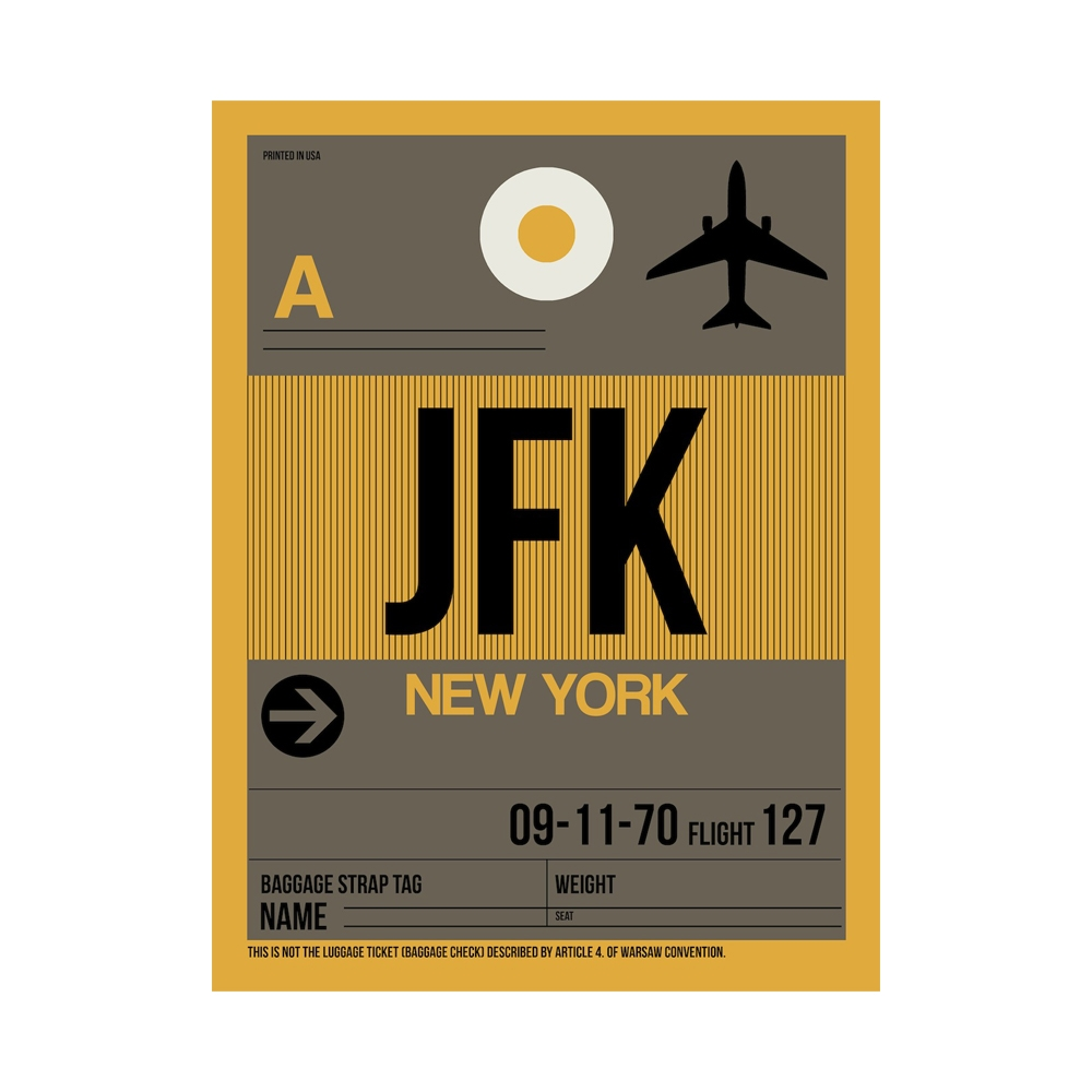 NaxArt   JFK New York Poster