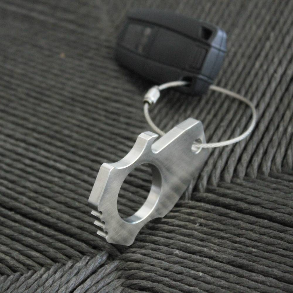 Stainless Steel Bottle Opener Keychain | Bastion