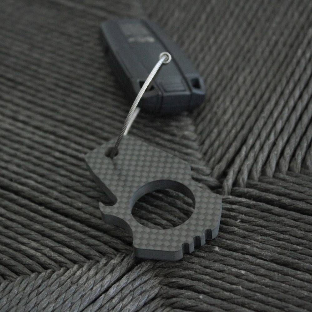 Carbon Fiber Bottle Opener Keychain | Bastion