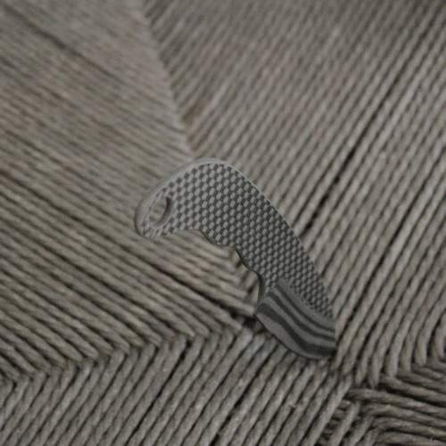 Carbon Fiber Neck Knife Curved Handle   Bastion