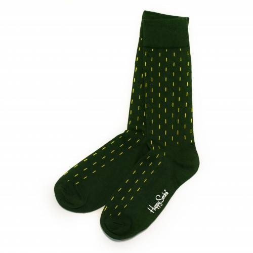 Socks   Green & Yellow Stripes & Argyle Print   Happy Socks