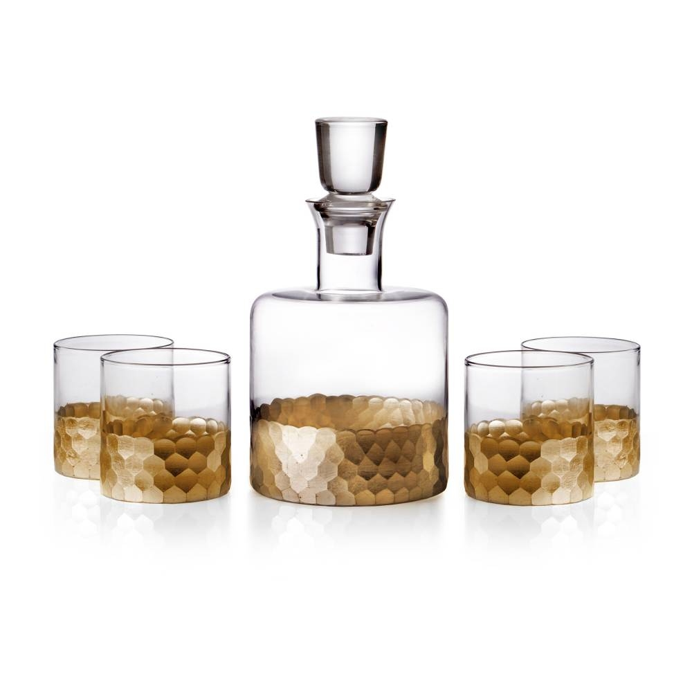 Daphne Whiskey Decanter Set of 5 | Jay Companies
