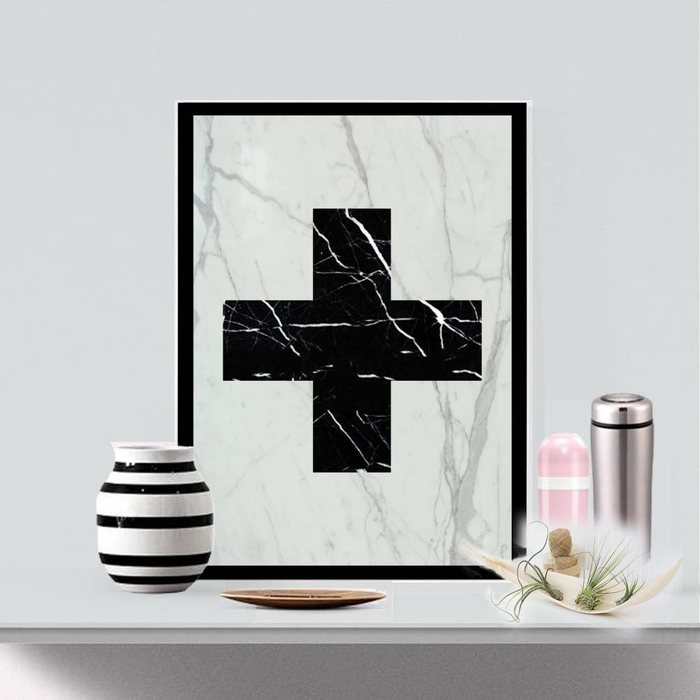 Real Marble Cross Art Piece | Mikol