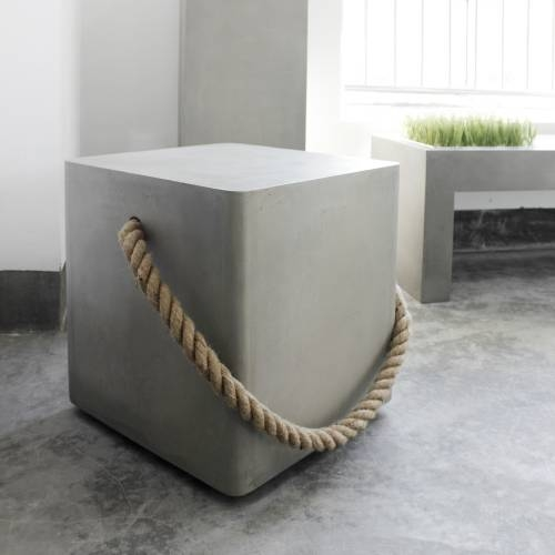 Soft Edge Wheels & Rope Stool | Lyon Beton