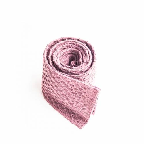 Pink Knitted Cotton Tie Mess of Blues 7qhzkx7g7Y
