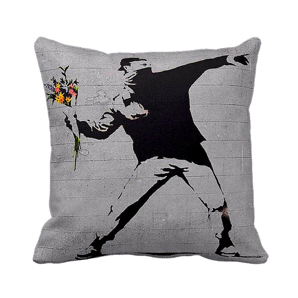Rage Flower Thrower | Banksy Art | iLeesh