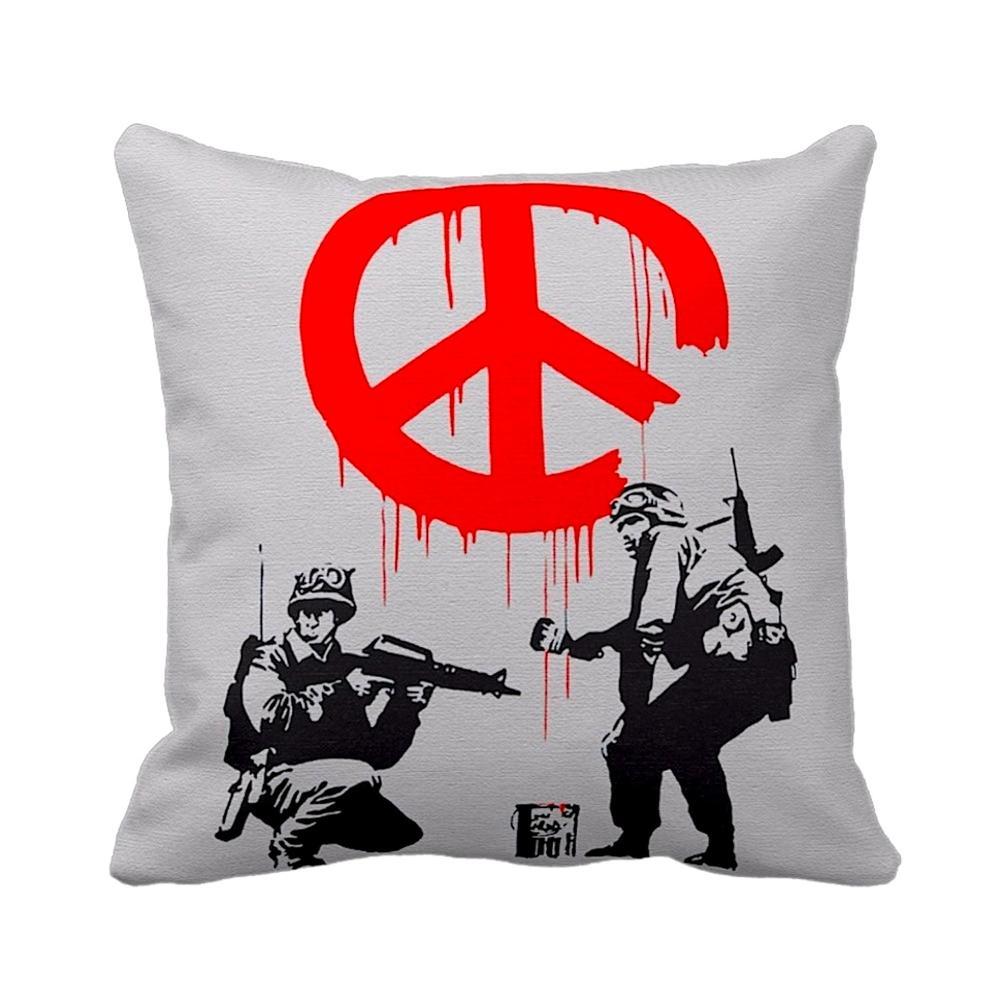 Soldiers Painting Peace Sign | Banksy | iLeesh