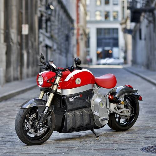 Sora Electric Motorcycle   Red