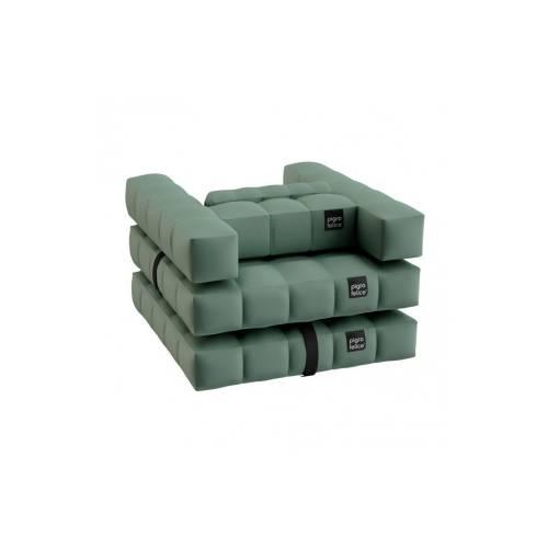 Armchair / Single Lounger Set | Olive Green | Pigro Felice