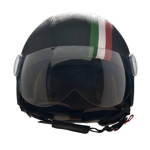 Black Leather Helmet | Italian Band
