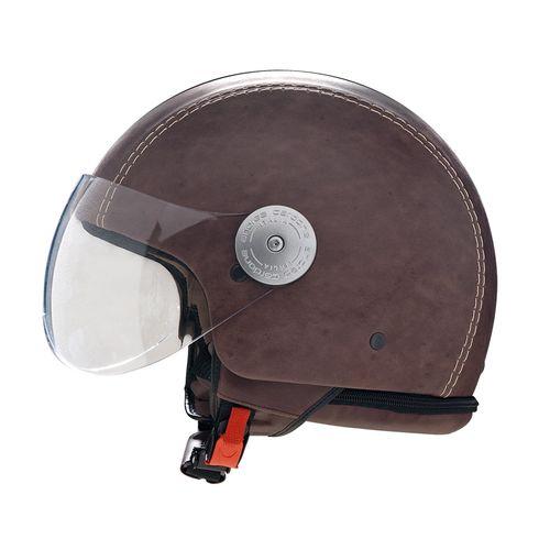 Leather Helmet   Vintage Brown