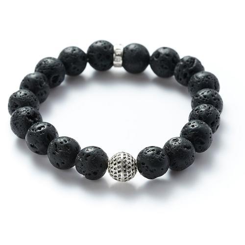 Lava | Silver Ball Bracelet