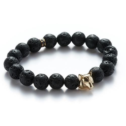 Lava | Gold Wolf Bracelet