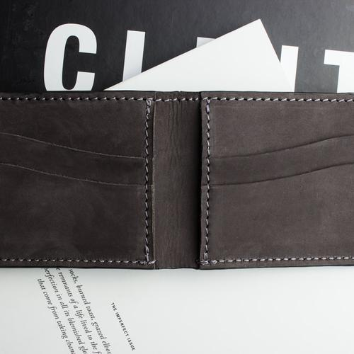 Bifold wallet kiko leather for Yamaha leather wallet