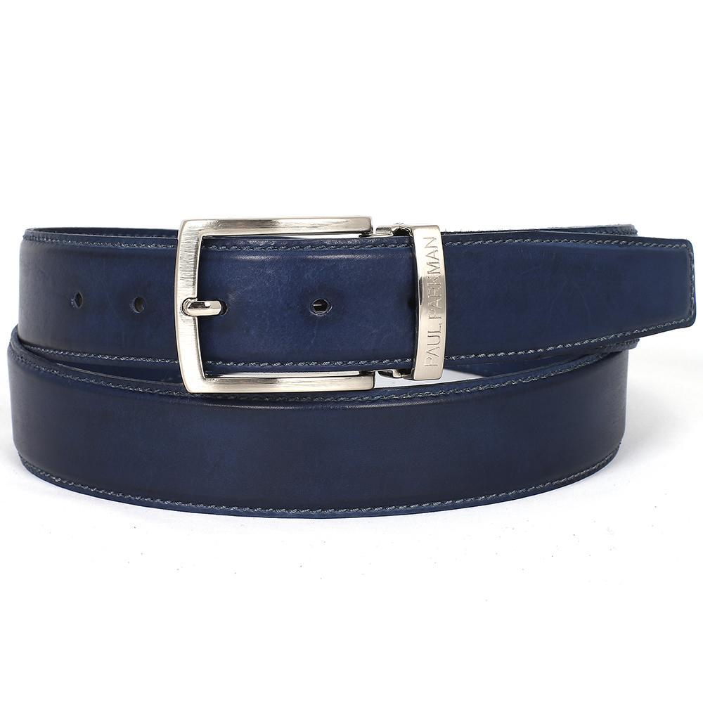 Men's Leather Belt   Navy