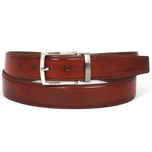 Men's Leather Belt   Reddish Brown