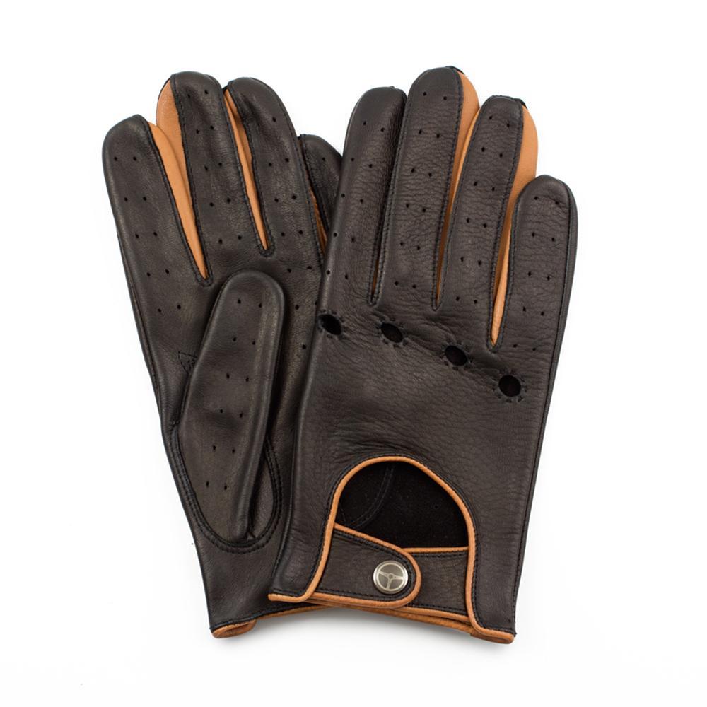 The Top Gear | Deerskin Black Gloves | The OutlierMan