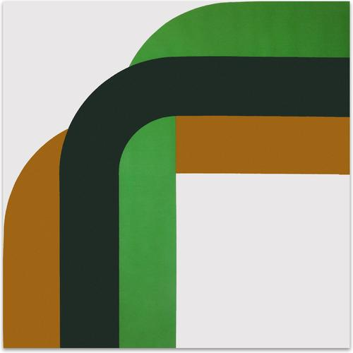 Right Angle // Mustard Greens   MidcenturyArt