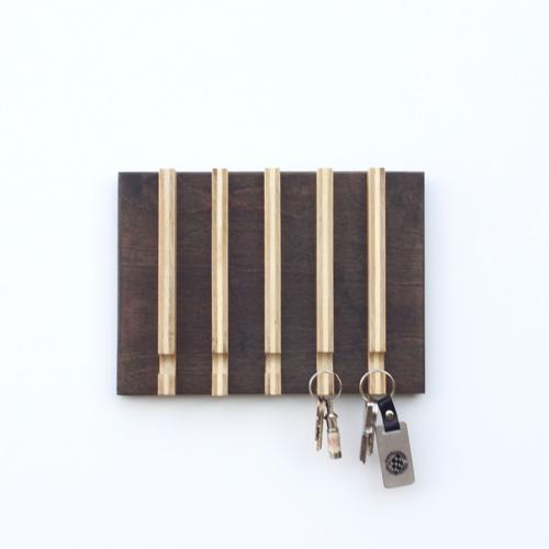 Linear Modern Key Rack | 5 Hooks
