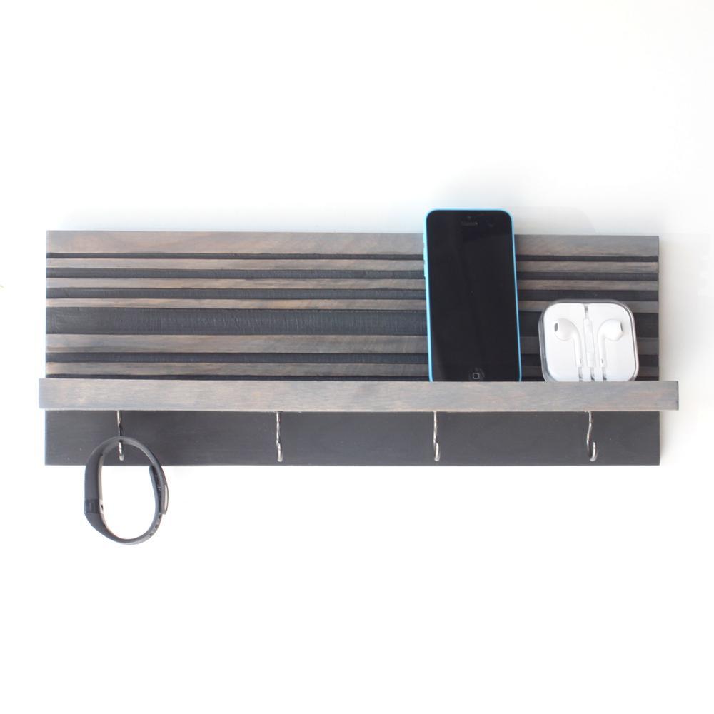 Key Holder / Jewelry Organizer   Gray   Wood Butcher Designs