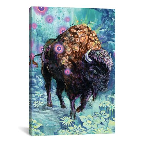 Buffalo Bloom by Black Ink Art Canvas Print