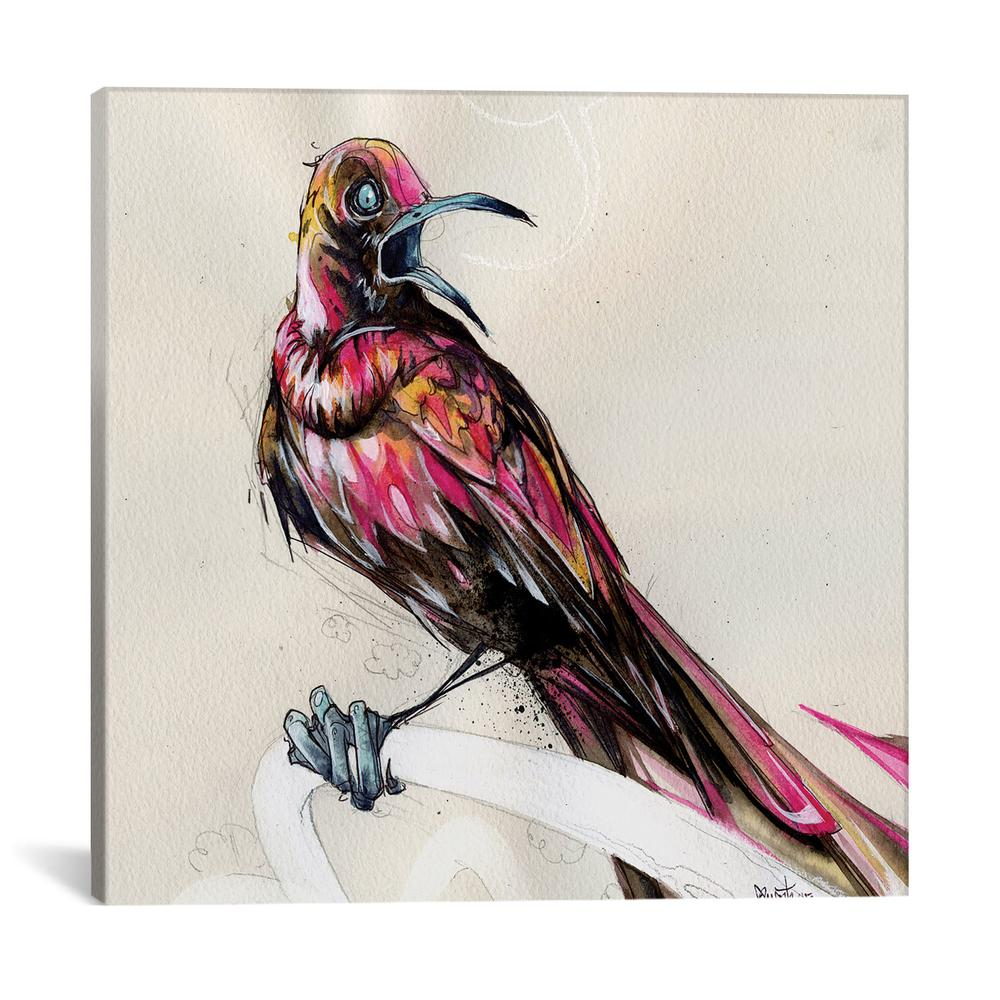 Grackle III by Black Ink Art Canvas Print