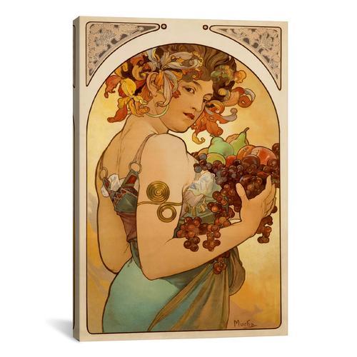 Fruit by Alphonse Mucha Canvas Print