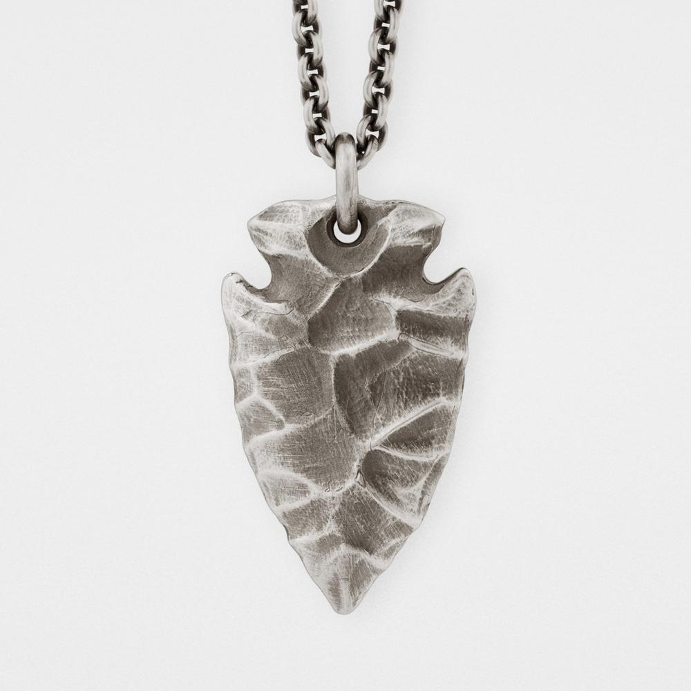 Pendant sterling silver chain snake bones arrowhead pendant sterling silver chain snake bones mozeypictures Gallery