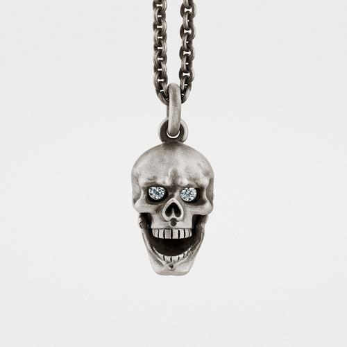 Tomahawk pendant sterling silver with chain snake bones skull pendant hinged jaw diamond eyes mozeypictures Images